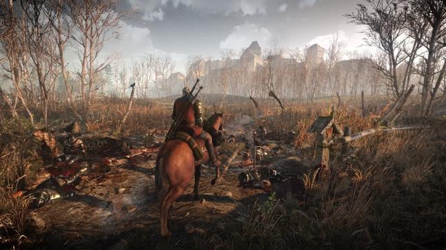 The_Witcher_3_Wild_Hunt__Geralt_travels_through_war_ravaged_territory